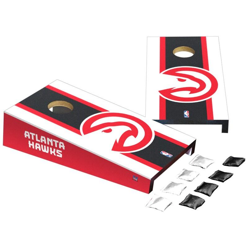 Atlanta Hawks Stripe Design Desktop Cornhole Game Set