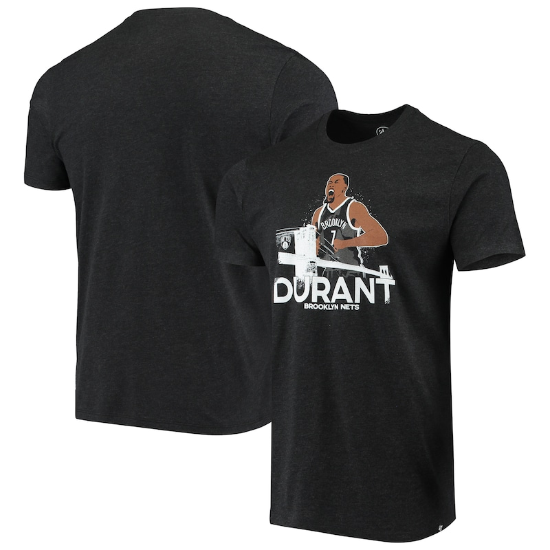 Kevin Durant Brooklyn Nets '47 Player Graphic T-Shirt - Heathered Black