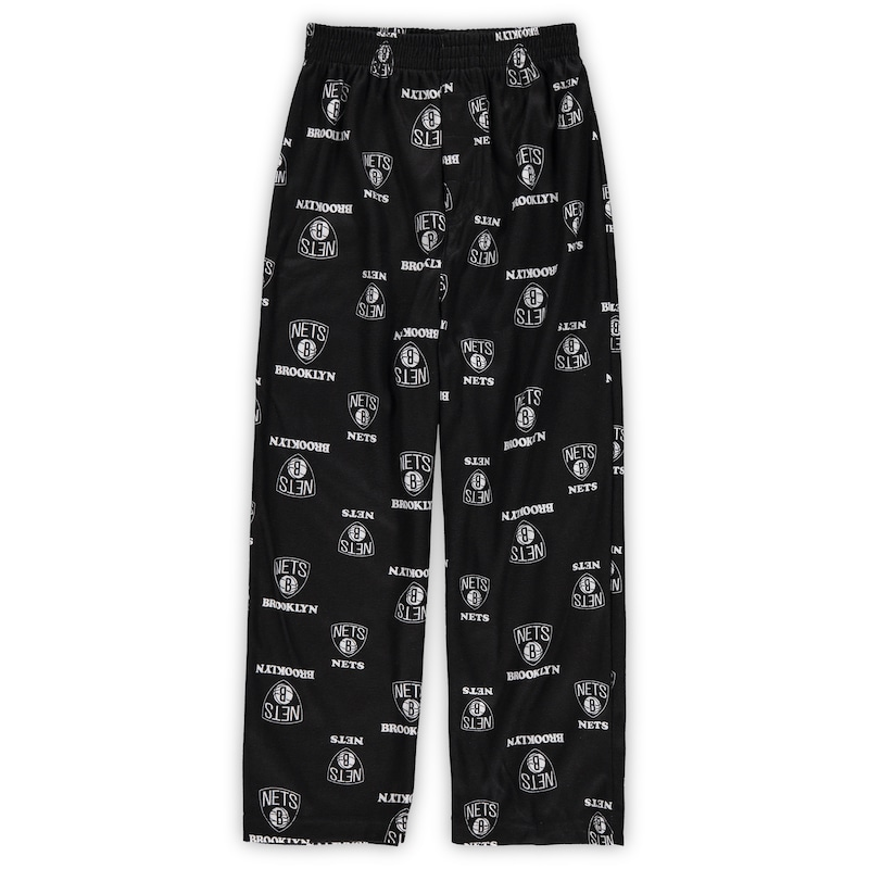 Brooklyn Nets Preschool All Over Print Sleep Pants - Black