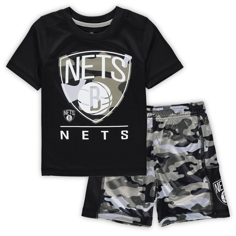 Brooklyn Nets Toddler MVP T-Shirt & Shorts Set - Black
