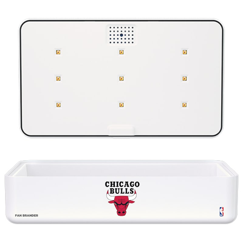 Chicago Bulls Portable UV Phone Sterilizer & Wireless Charger - White