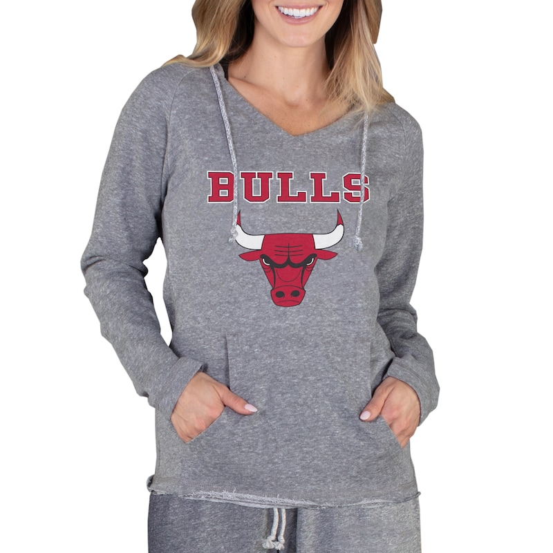 Chicago Bulls Concepts Sport Women's Mainstream Terry Hooded Top - Gray
