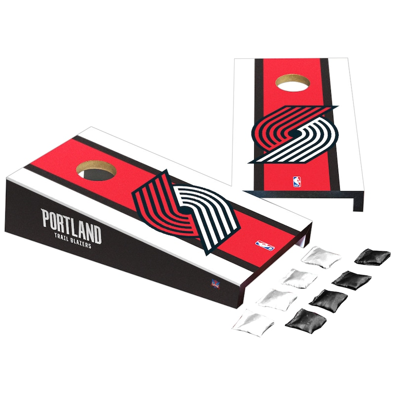 Portland Trail Blazers Stripe Design Desktop Cornhole Game Set