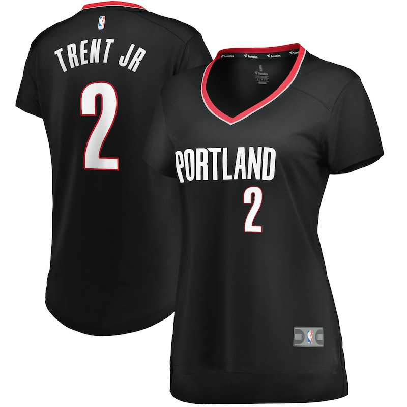 Gary Trent Jr. Portland Trail Blazers Fanatics Branded Women's Fast Break Player Jersey - Icon Edition - Black