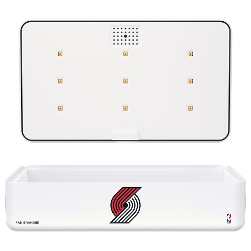 Portland Trail Blazers Portable UV Phone Sterilizer & Wireless Charger - White