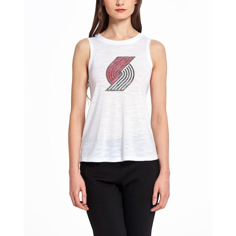 Portland Trail Blazers Concepts Sport Women's Infuse Knit Tank Top - White