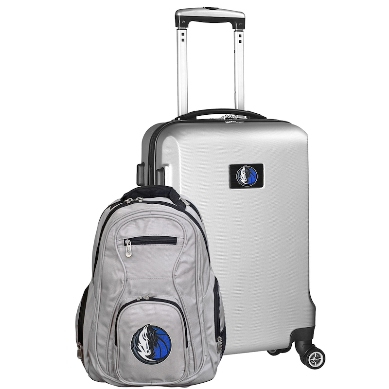 Dallas Mavericks Deluxe 2-Piece Backpack and Carry-On Set - Silver
