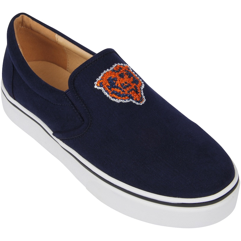 Chicago Bears Cuce Women's Suede Slip On Shoe - Navy