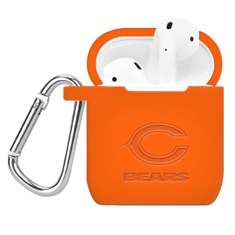 Chicago Bears Debossed Silicone Air Pods Case Cover - Orange