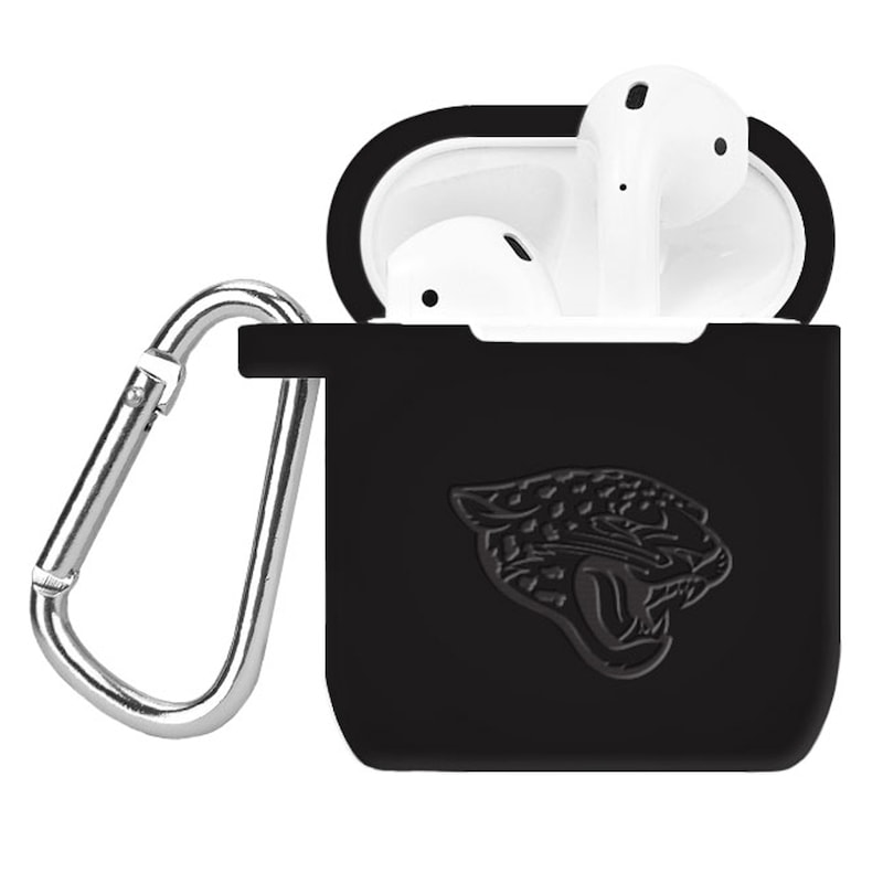 Jacksonville Jaguars Debossed Silicone Air Pods Case Cover - Black