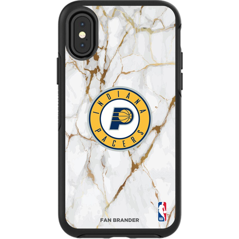 Indiana Pacers iPhone Symmetry Marble Case - Black