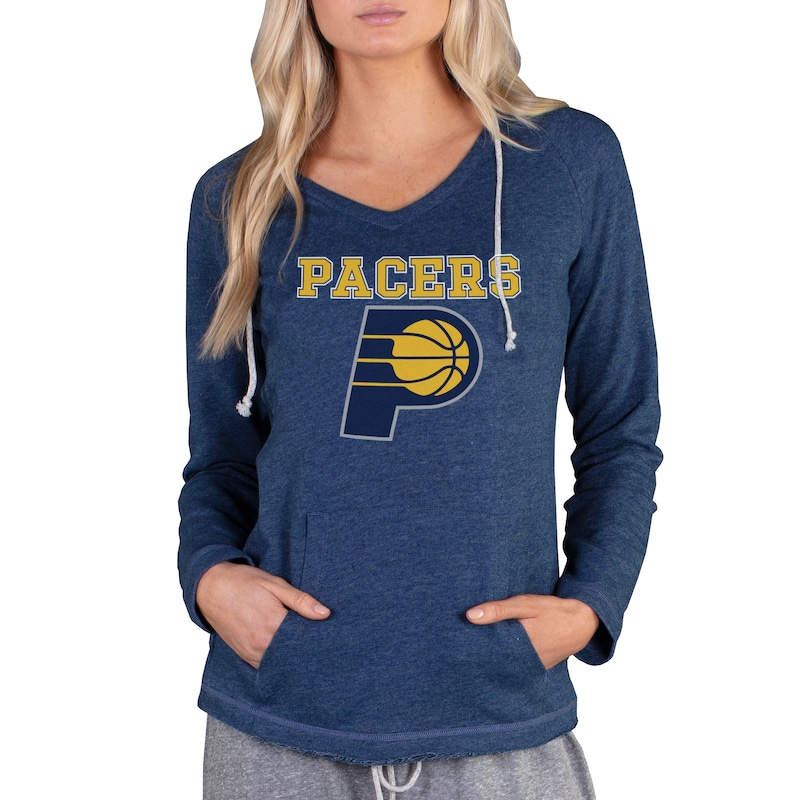 Indiana Pacers Concepts Sport Women's Mainstream Terry Hooded Top - Navy