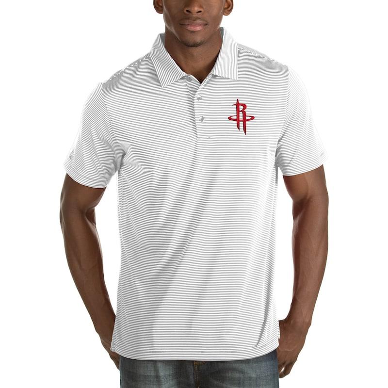 Houston Rockets Antigua Quest Big & Tall Polo - White