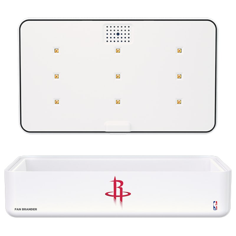 Houston Rockets Portable UV Phone Sterilizer & Wireless Charger - White