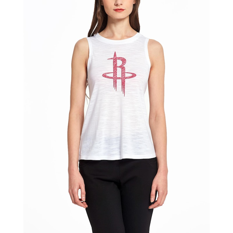 Houston Rockets Concepts Sport Women's Infuse Knit Tank Top - White