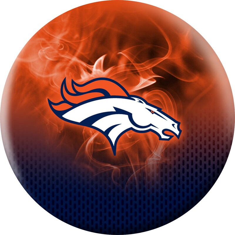 Denver Broncos NFL On Fire Undrilled Bowling Ball