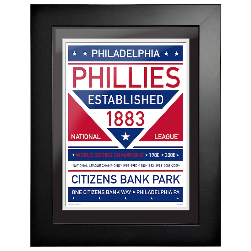 Philadelphia Phillies 12'' x 16'' Dual Tone Framed Wall Art