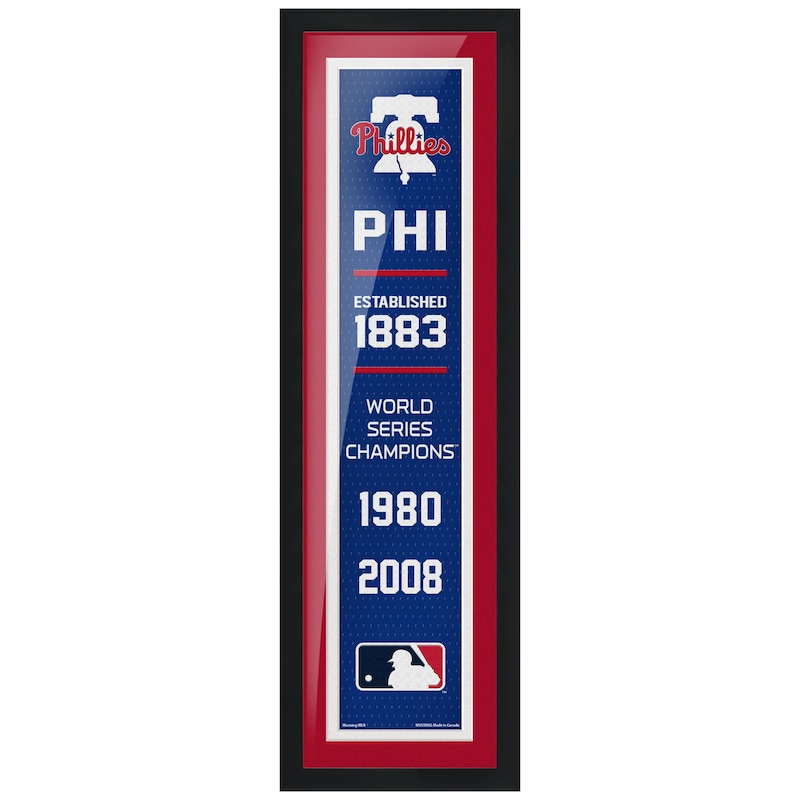 Philadelphia Phillies 6'' x 22'' Empire Framed Artwork