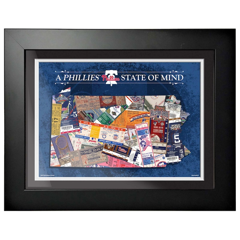 Philadelphia Phillies 12'' x 16'' State of Mind Wall Art
