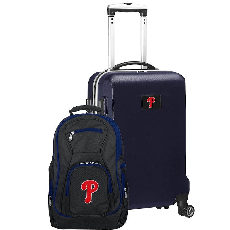 Philadelphia Phillies Deluxe 2-Piece Backpack and Carry-On Set - Navy