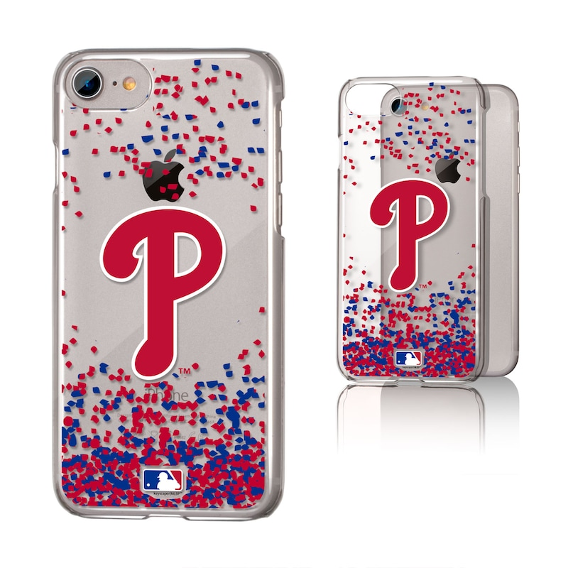 Philadelphia Phillies Galaxy iPhone 6/6S/7/8 Confetti Design Clear Case