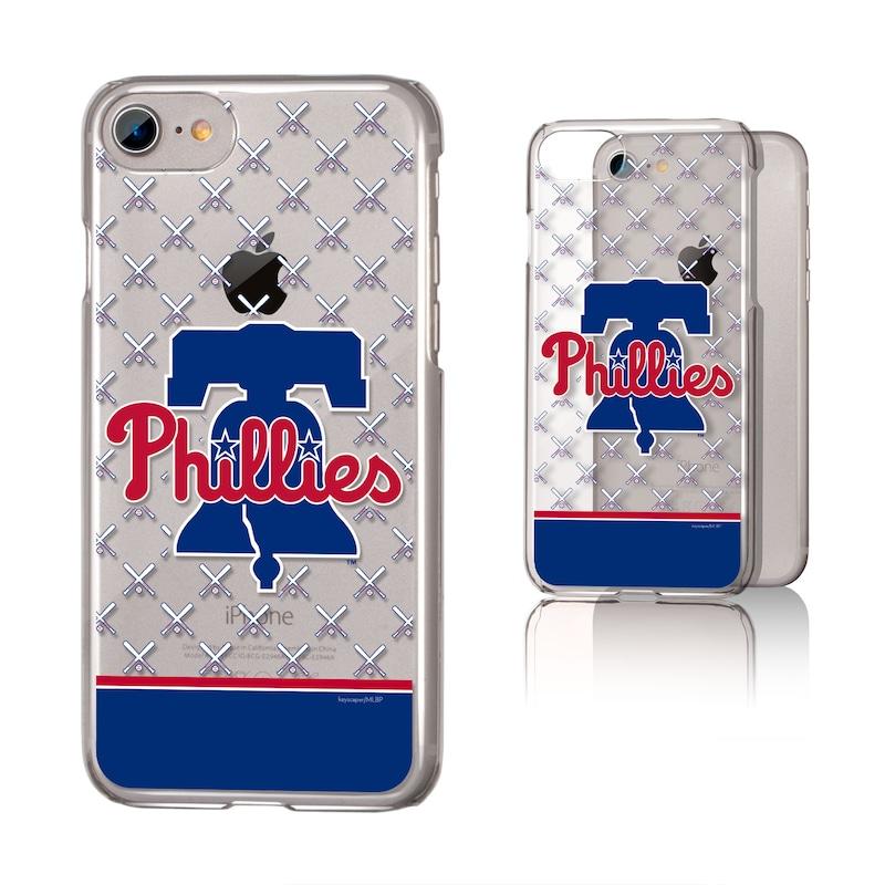 Philadelphia Phillies iPhone 6/6s/7/8 Team Stripe Clear Case