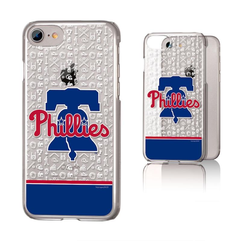 Philadelphia Phillies iPhone 6/6s/7/8 Logo Stripe Clear Case