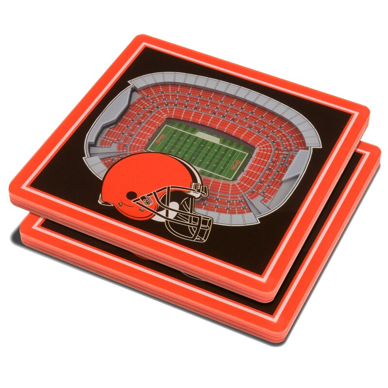 Cleveland Browns 3D StadiumViews Coasters - Brown