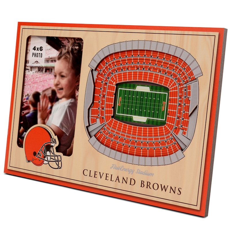Cleveland Browns 3D StadiumViews Picture Frame - Brown