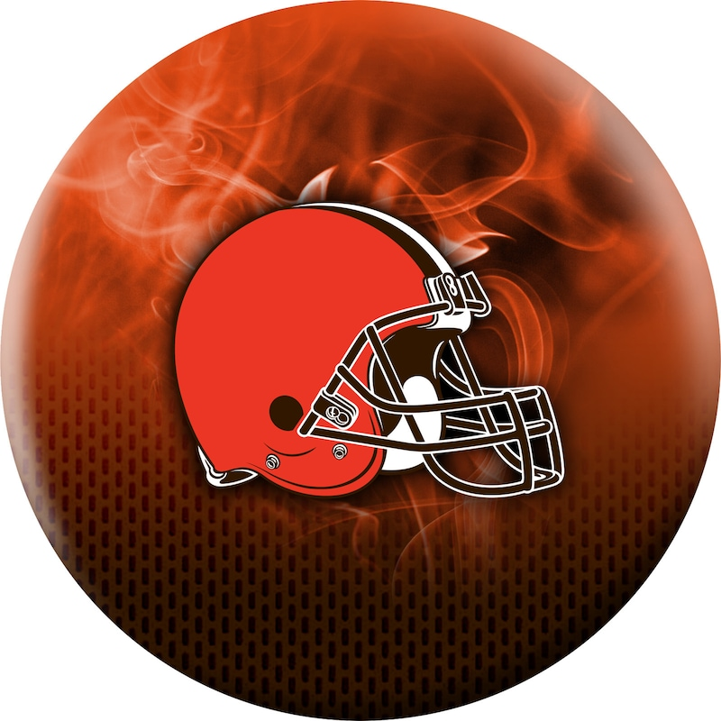 Cleveland Browns NFL On Fire Undrilled Bowling Ball