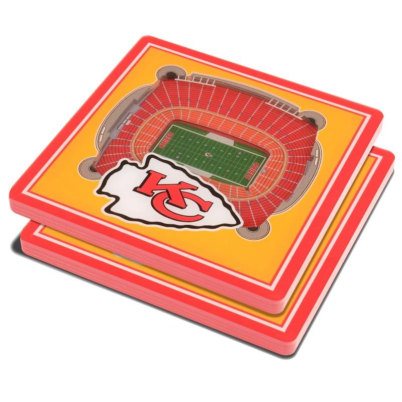 Kansas City Chiefs 3D StadiumViews Coasters - Yellow