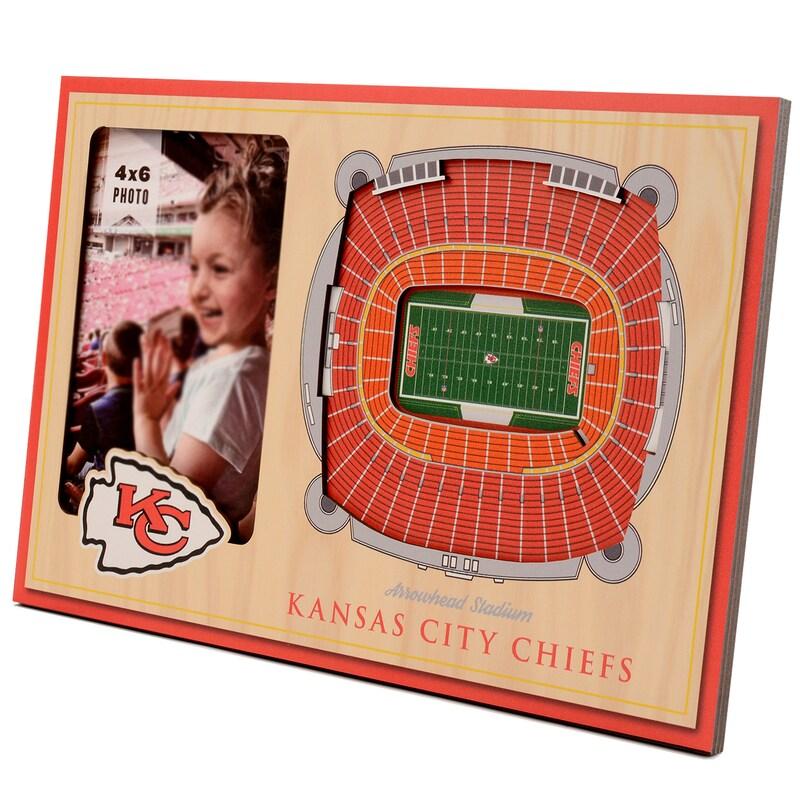 Kansas City Chiefs 3D StadiumViews Picture Frame - Brown
