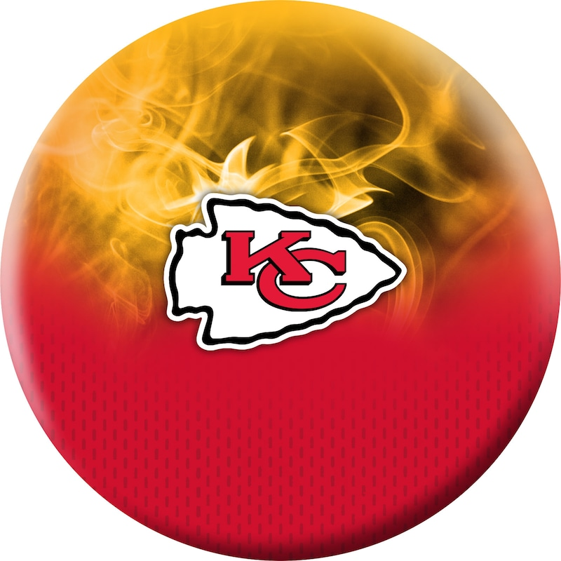 Kansas City Chiefs NFL On Fire Undrilled Bowling Ball