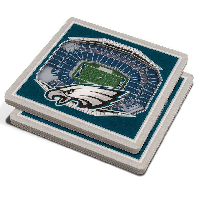 Philadelphia Eagles 3D StadiumViews Coasters - Green