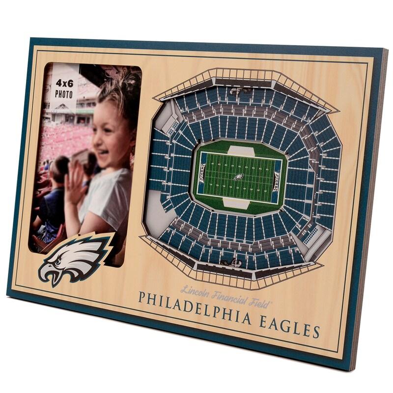 Philadelphia Eagles 3D StadiumViews Picture Frame - Brown