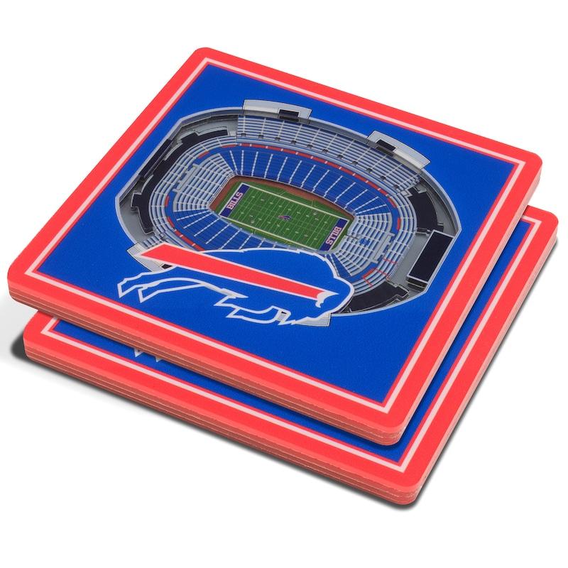 Buffalo Bills 3D StadiumViews Coasters - Blue