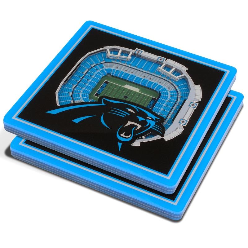 Carolina Panthers 3D StadiumViews Coasters - Black