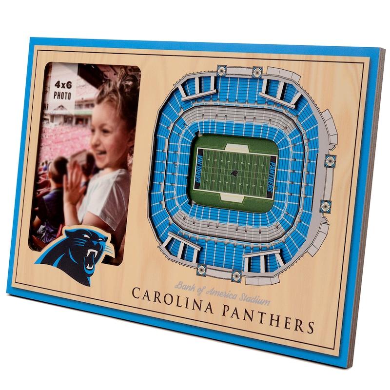 Carolina Panthers 3D StadiumViews Picture Frame - Brown