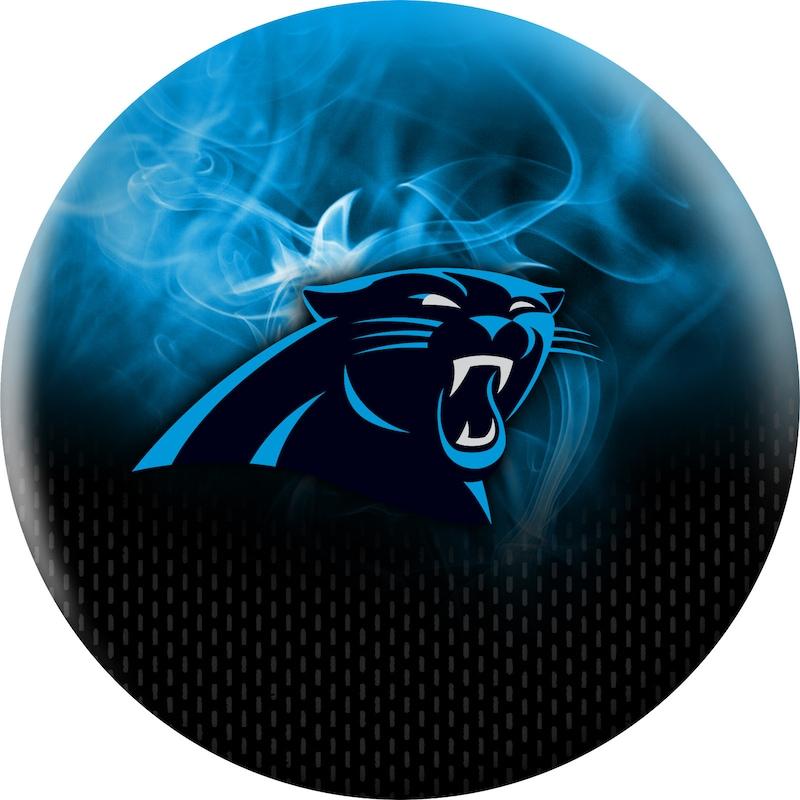 Carolina Panthers NFL On Fire Undrilled Bowling Ball