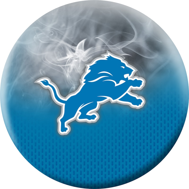 Detroit Lions NFL On Fire Undrilled Bowling Ball