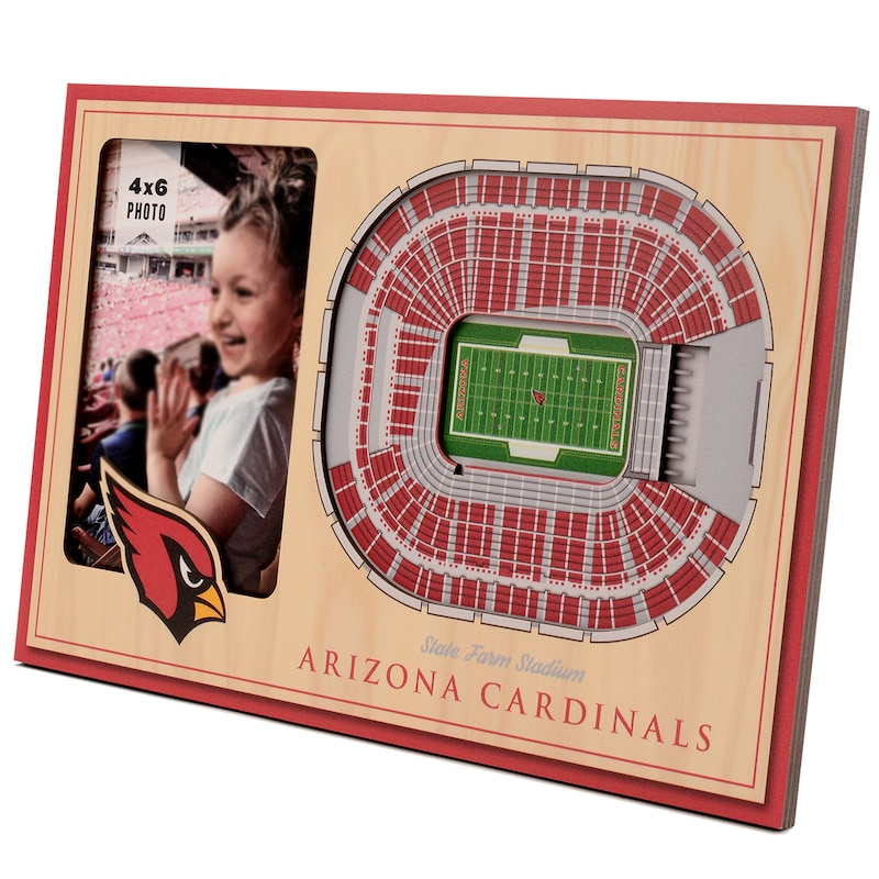 Arizona Cardinals 3D StadiumViews Picture Frame - Brown