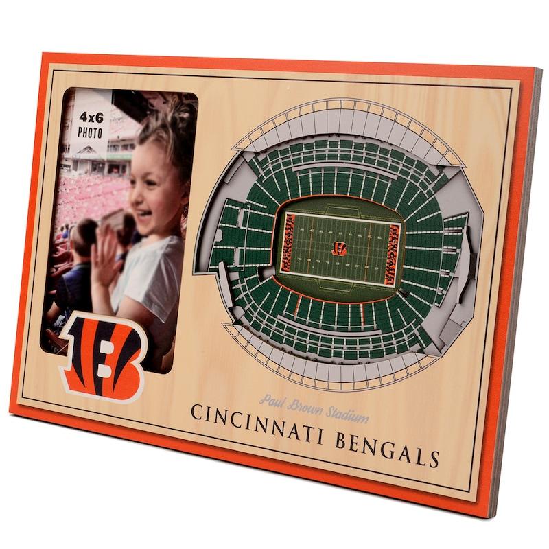 Cincinnati Bengals 3D StadiumViews Picture Frame - Brown