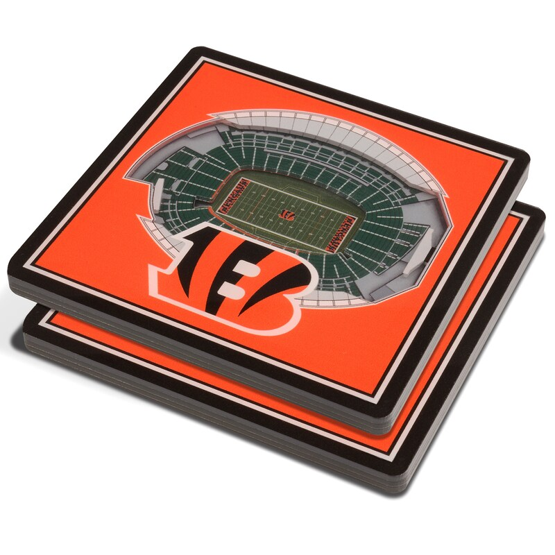 Cincinnati Bengals 3D StadiumViews Coasters - Orange