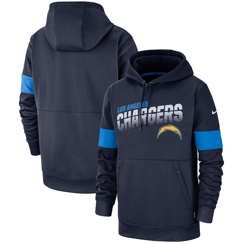 Los Angeles Chargers Nike Sideline Performance Pullover Hoodie - Navy