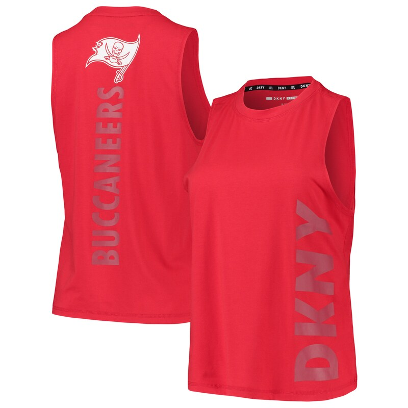 Tampa Bay Buccaneers DKNY Sport Women's Olivia Tri-Blend Tank Top - Red
