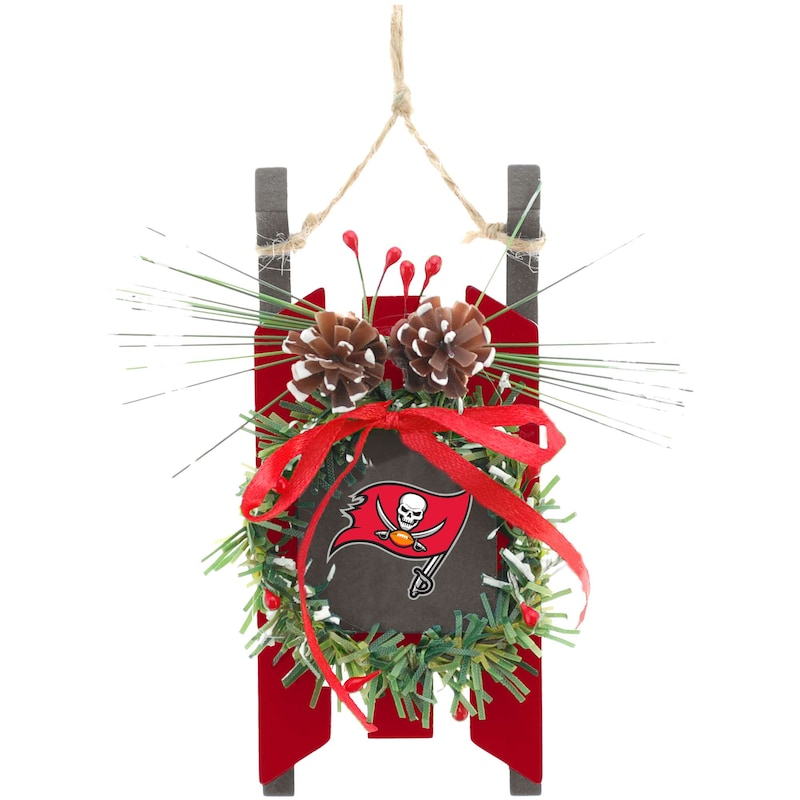 Tampa Bay Buccaneers Wood Sled Ornament