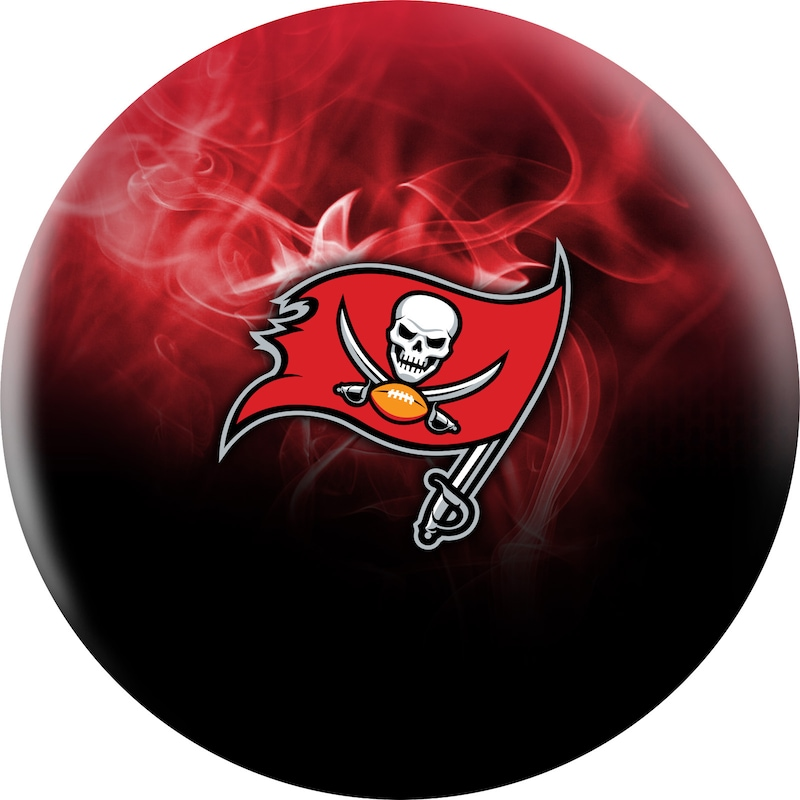 Tampa Bay Buccaneers NFL On Fire Undrilled Bowling Ball