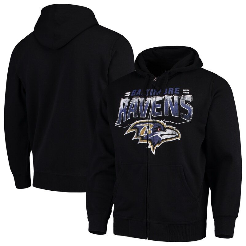 Baltimore Ravens G-III Sports by Carl Banks Perfect Season Full-Zip Hoodie - Black