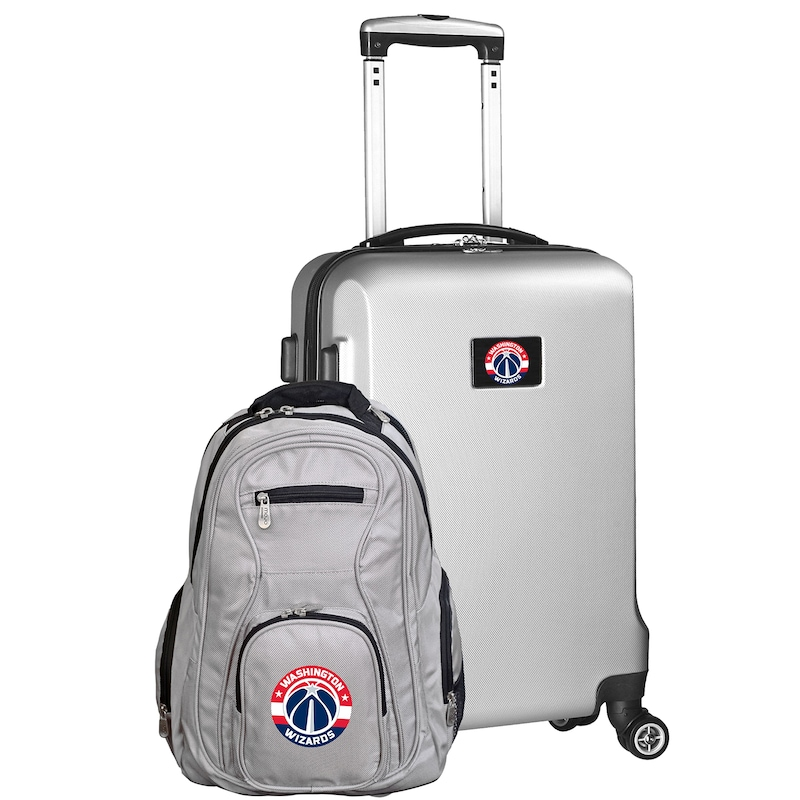 Washington Wizards Deluxe 2-Piece Backpack and Carry-On Set - Silver