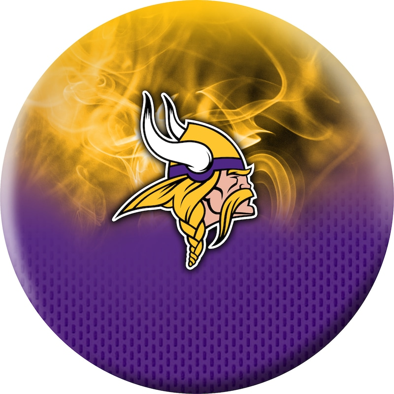 Minnesota Vikings NFL On Fire Undrilled Bowling Ball